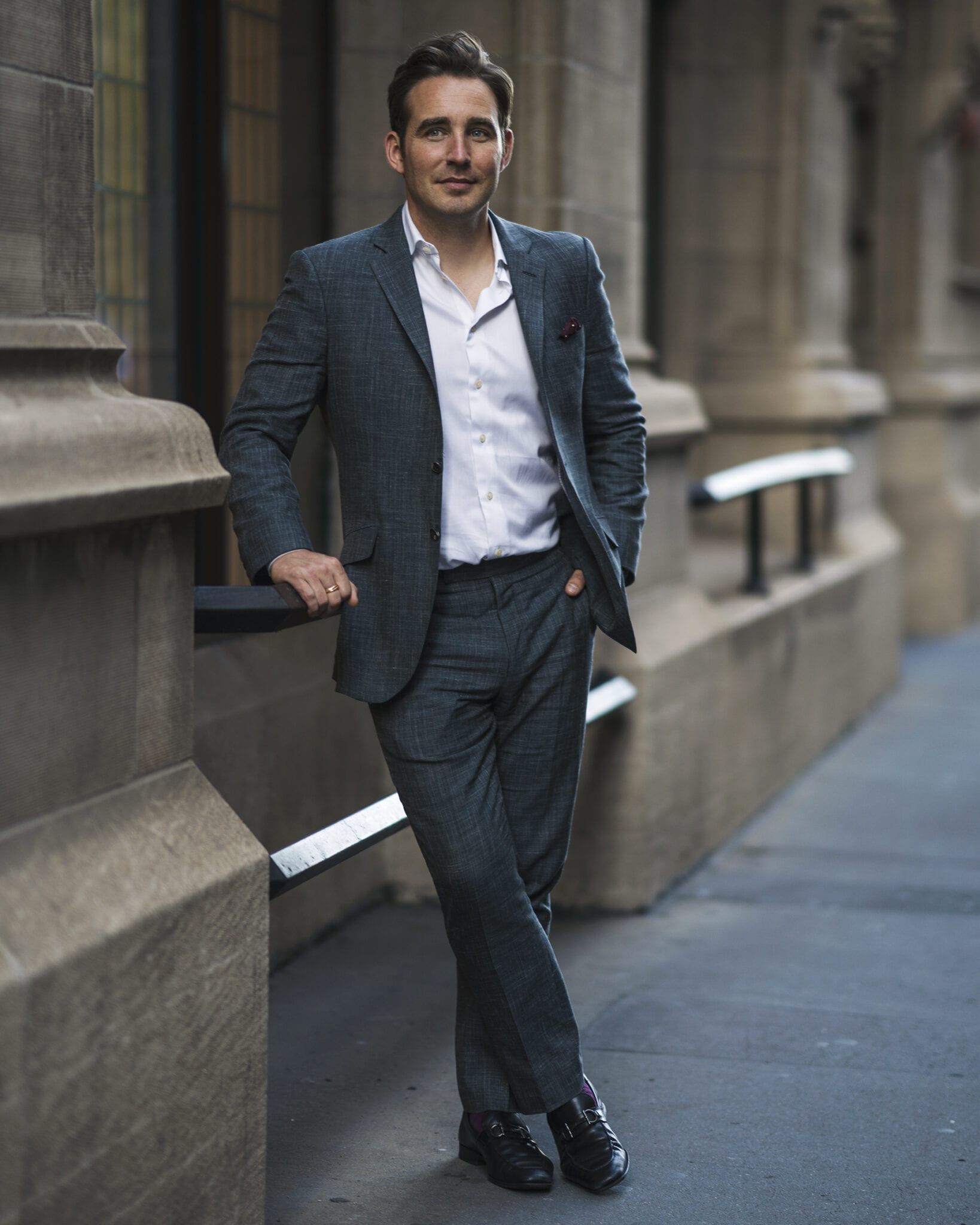 Author Phil M Jones standing in a street